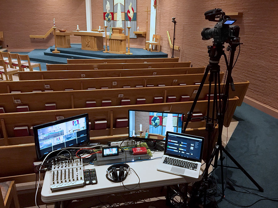 Live multiple video camera coverage for large funerals and overflow seating