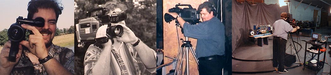 David Delouchery behind various video cameras in the 1990's
