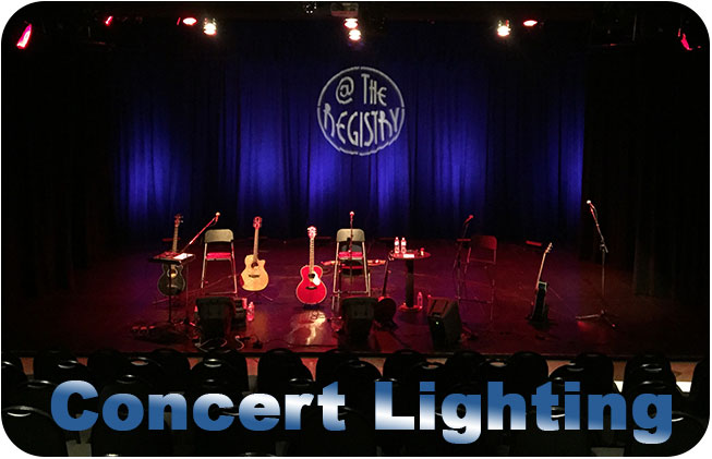 Concert lighting at the Registry Theatre Kitchener Ontario