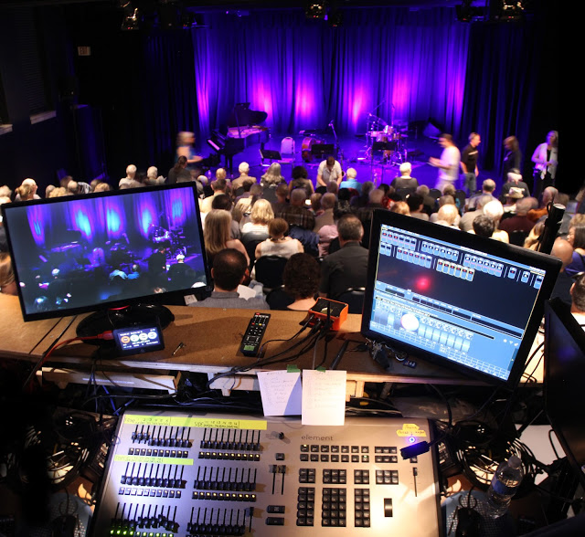 The lighting control operator board at the Registry Theatre in Kitchener Ontario