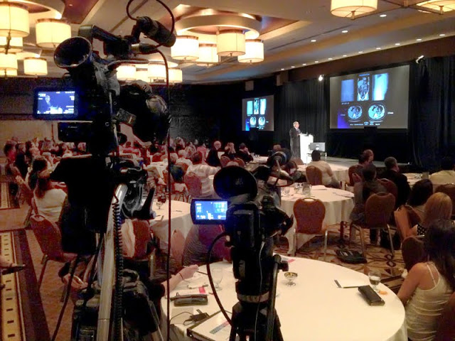 Filming a conference for a large international medical equipment manufacturer