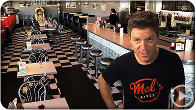 Mel's Diner Restuarant TV ad Kitchener Waterloo