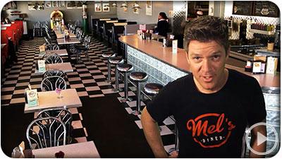 Mel's Diner Restuarant TV ad Kitchener Waterloo