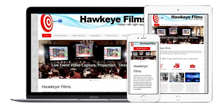 Hawkeye Films offers Website Design for desktop and mobile brosers