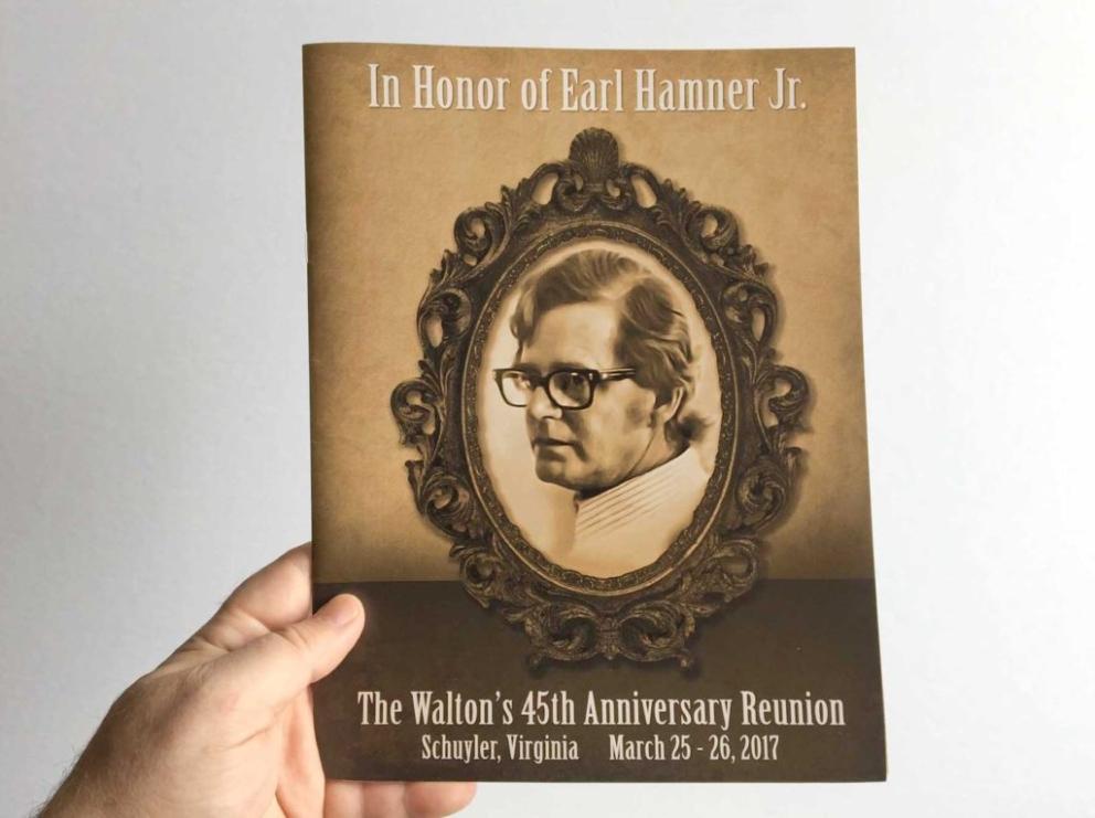 A souvenir program for The Waltons 45th Anniversary Reunion - Print Media