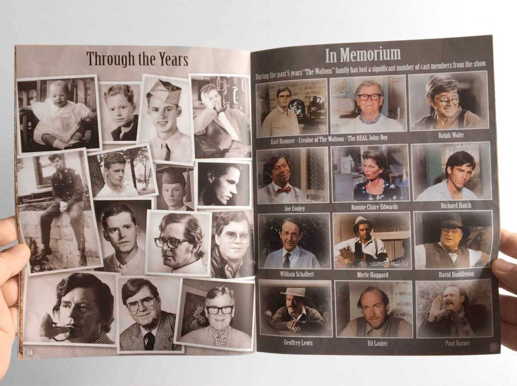 A souvenir program for The Waltons 45th Anniversary Reunion - Print Media