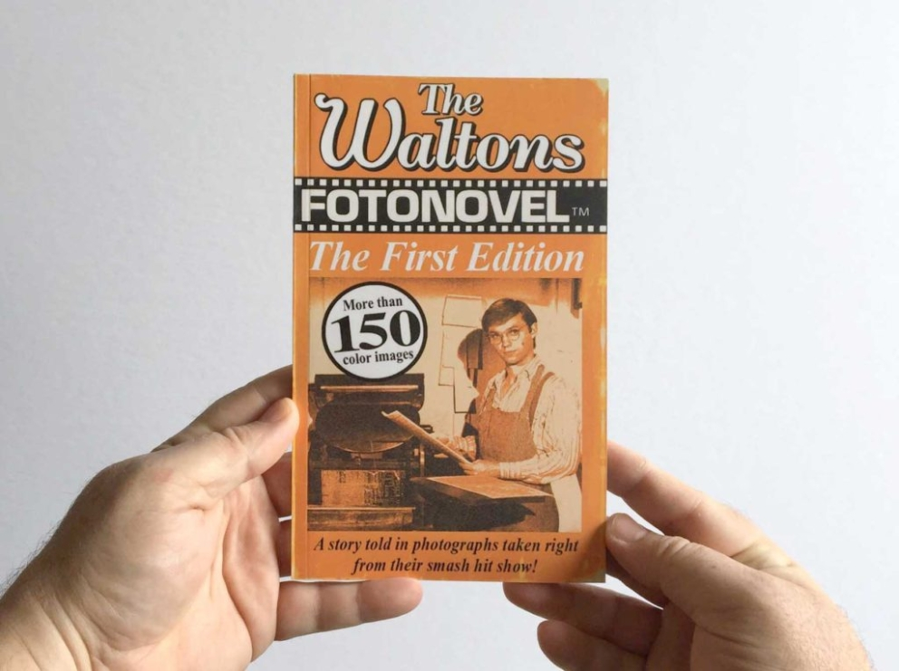 A paperback of scene grabs in the style of a 1970s photo novel - Print Media