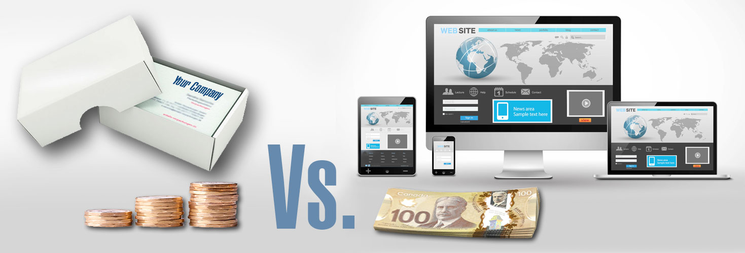 Business Cards Website cost comparison