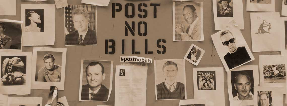 Post no Bills banner