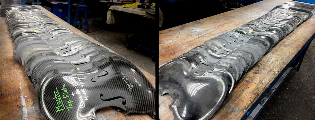 R&D - pre-production - Carbon Fiber Violins