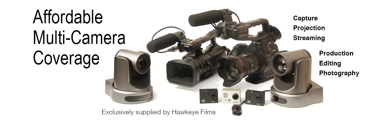 Live multi-camera coverage and video streaming by Hawkeye Films for Kitchener, Waterloo, Cambridge, Toronto and Ontario