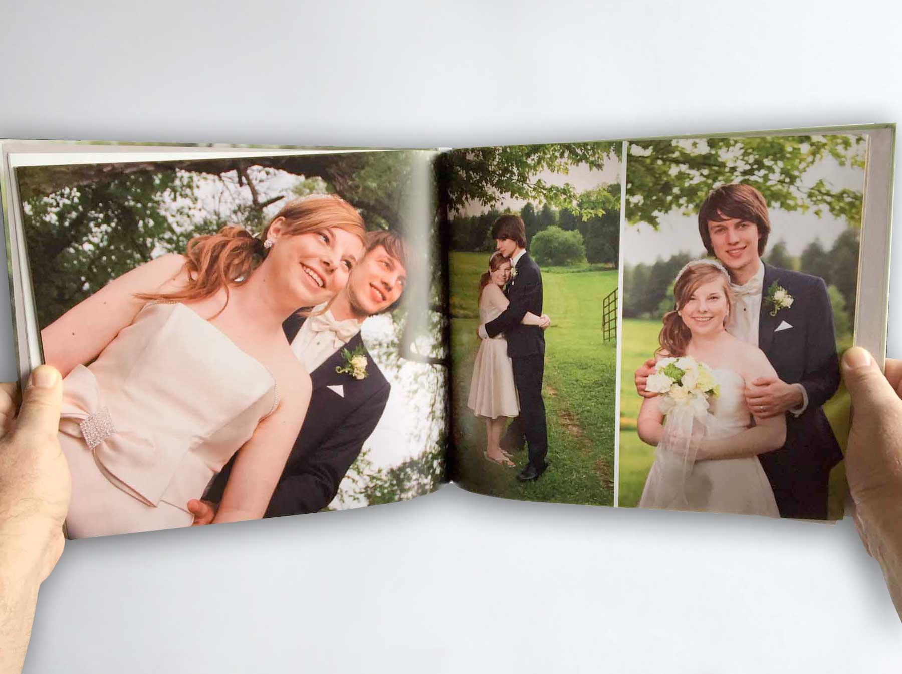 A coffee table book style wedding album  - Print Media