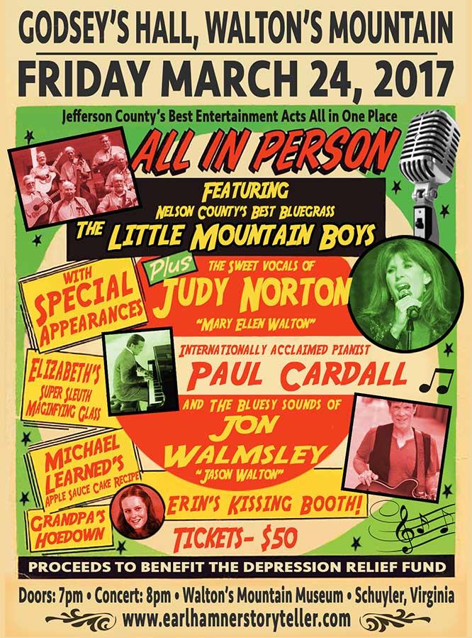Bluegrass music Variety show concert poster design